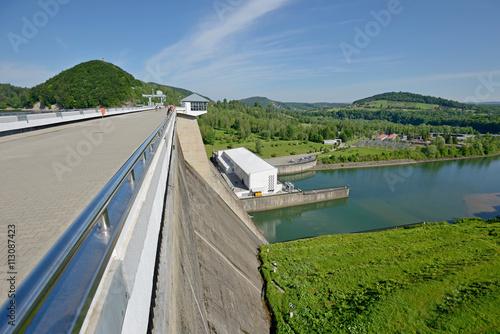 Deurstickers Dam Zapora Solina