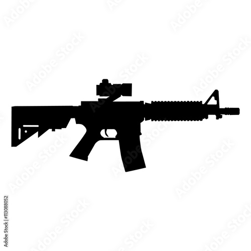 Fotografie, Obraz  american automatic assault rifle