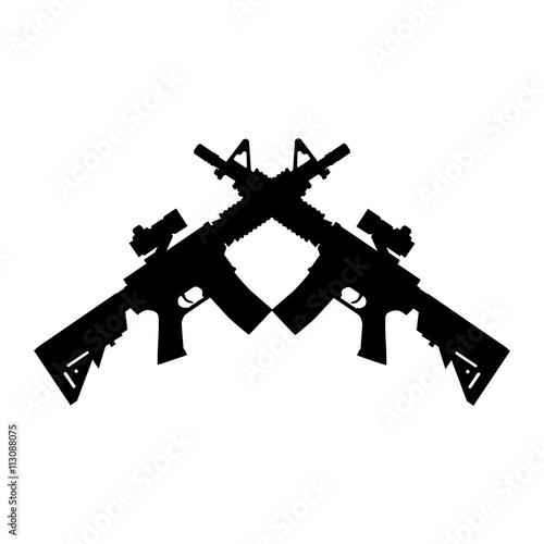 Obraz na płótnie american automatic assault rifle
