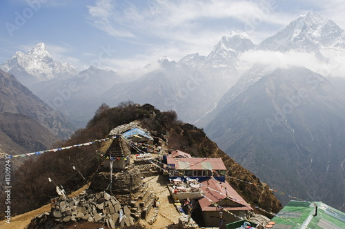 View of Ama Dablam, 6812m, Solu Khumbu Everest Region, Sagarmatha National Park, Poster