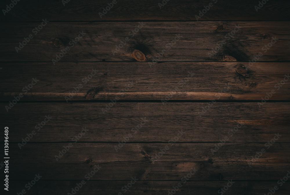 Fototapeta dark wood board use for background