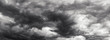 Leinwandbild Motiv Storm cloud sky panorame, day time