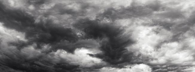 Fototapeta Storm cloud sky panorame, day time