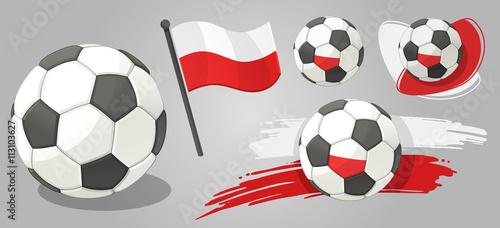 Euro 2016 icon set Canvas Print
