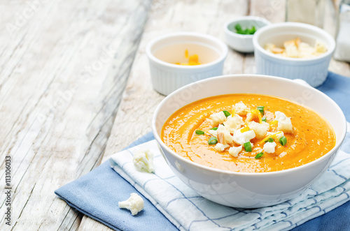 sweet potatoes cauliflower soup