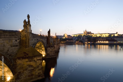 Evening light, Charles Bridge, St Poster