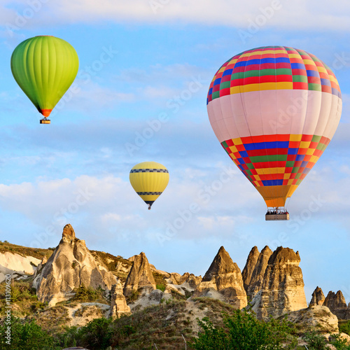 Montgolfière / Dirigeable Hot air balloon in Cappadocia, Turkey