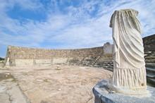 Roman Ruins Of Salamis, Turkish Part Of Cyprus, Cyprus