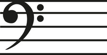 Note Line With Bass Clef