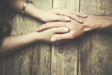 Woman And Man Hands