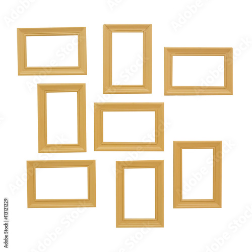 Fototapeta Wood frame isolated on white obraz na płótnie