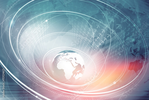 Global Connection Background Concept Series 10 Canvas Print