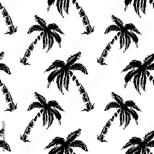 jednolite-wzor-z-palmami-czarne-minimalistyczne