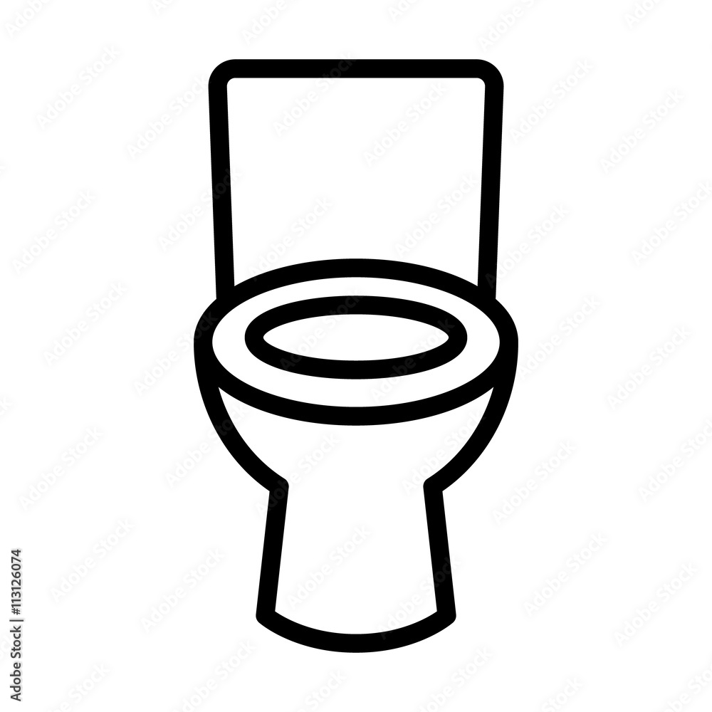 Bathroom / restroom toilet seat line art icon for apps and websites ...