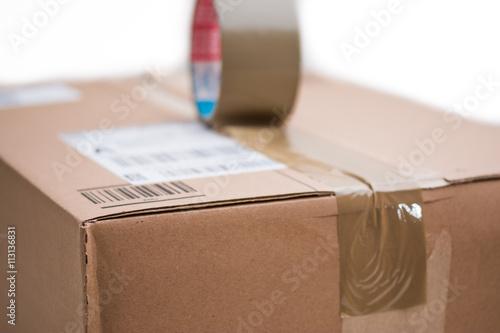 Fotografie, Obraz  Paket mit Klebeband