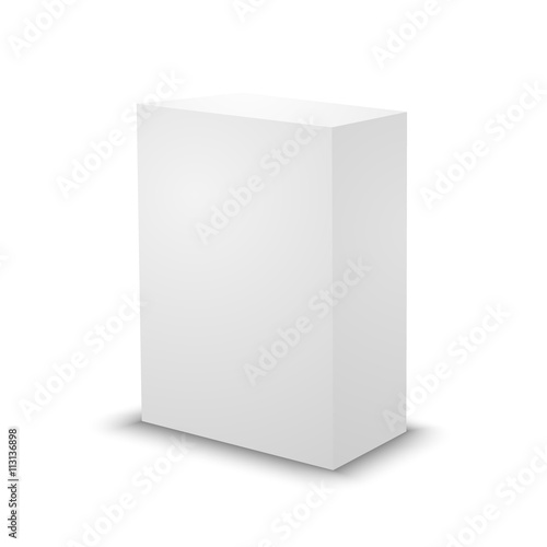Blank White Prism 3d Box Template Buy This Stock Vector And