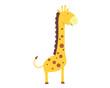 Flat Animal Character Logo - giraffe