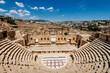 Amphitheater in the ancient Roman city, Jerash, Jordan.