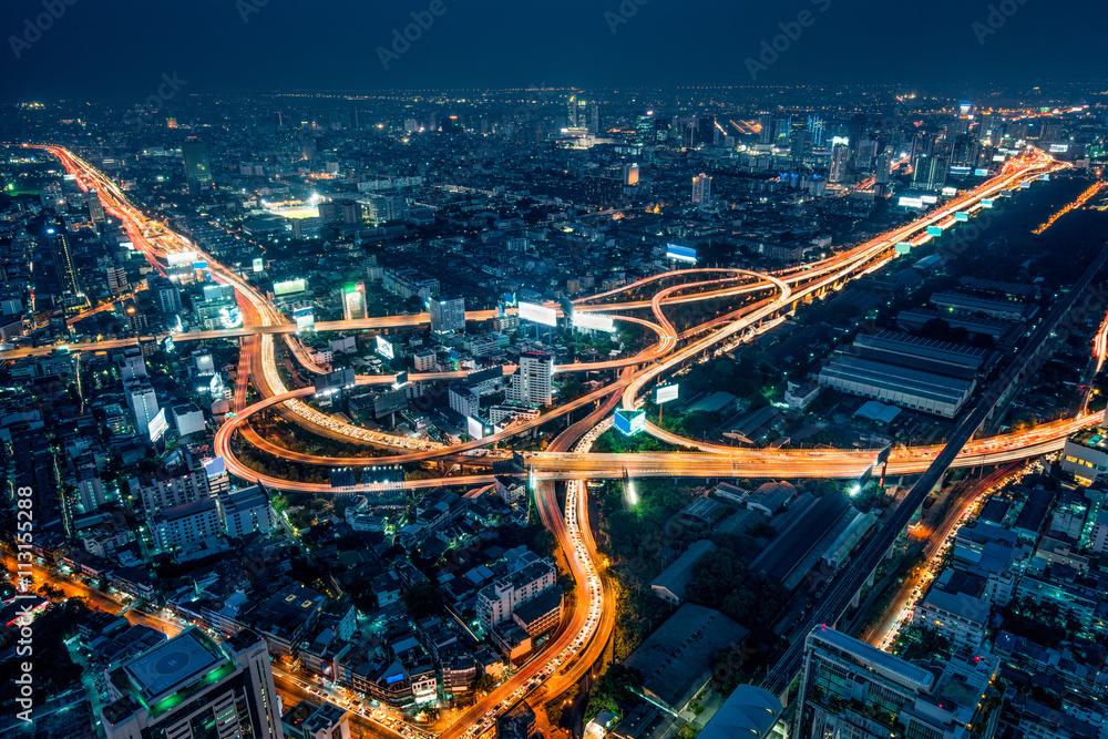 Fototapeta Bangkok bei Nacht
