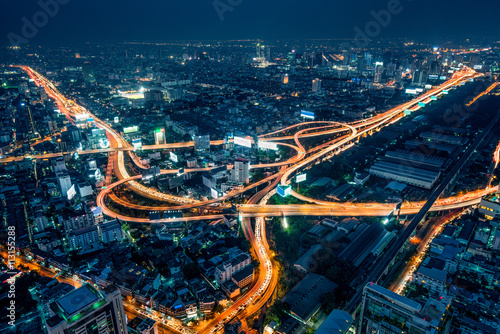 Bangkok bei Nacht Fototapeta