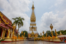 Wat Phra That Phanom Is The Sacred Area In The South Of Nakhon Phanom Province, Northeastern Thailand.