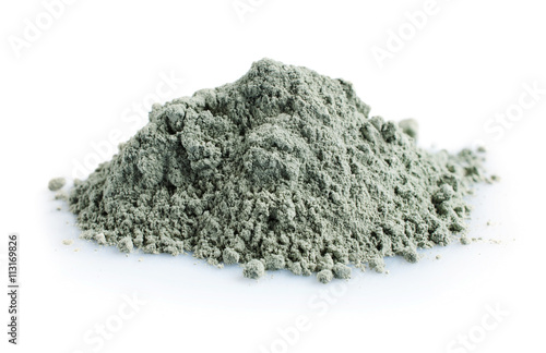 Fototapeta Pile of blue cosmetic clay