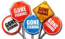 Gone Fishing, 3D Rendering, St...