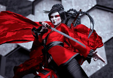 Japan Female Warrior - Kabuki - 3d Rendering