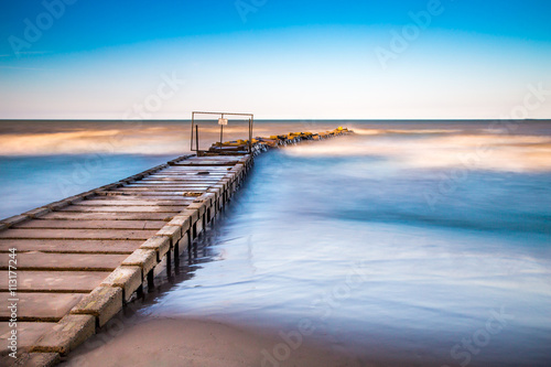 Fotografia  Long exposure landscape, Lake Michigan view