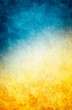 canvas print picture - Yellow Blue Grunge