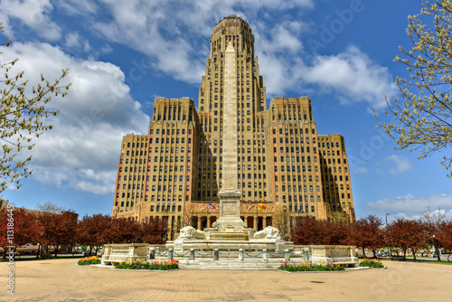 In de dag Buffel Niagara Square - Buffalo, New York