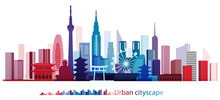 Colorful Building And City, Ur...