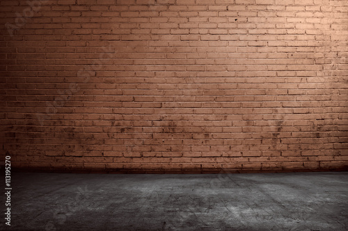 Canvas Print Red brick wall background