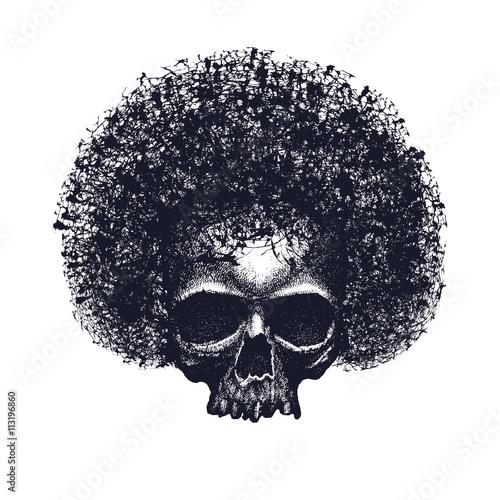 Fotografija  Skull reggae tee graphic design
