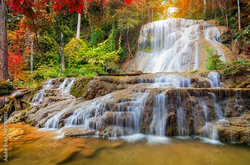 Obraz Piękny wodospad - fototapety do salonu
