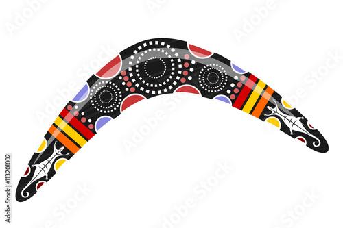 Australian boomerang. Cartoon boomerang on a white background. V Wallpaper Mural