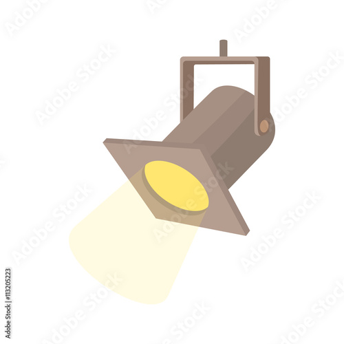 Foto op Canvas Licht, schaduw Theater spotlight icon, cartoon style