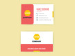 beautiful graphic design of red color business card