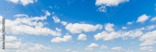Aluminium Prints Heaven blue sky with cloud closeup