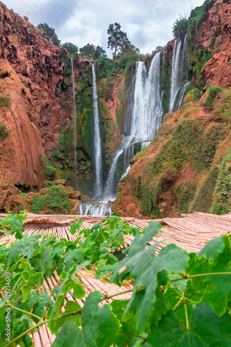 Papiers peints Maroc Beautiful waterfall in Ouzoud, Azilal, Morocco. Grand Atlas