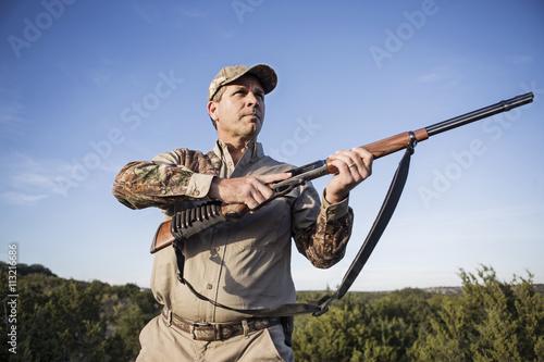 Papiers peints Chasse Mature man hunting
