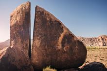 Cracked Stone In Wet Beaver Wilderness Area