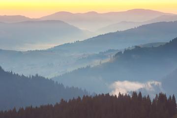 FototapetaOne minute before sunrise, Mountains Landscape