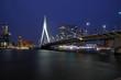 Erasmusbrücke bei Nacht, Rotterdam, Niederlande