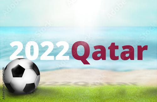 Fotografia  2022 qatar beach photo and 3D render background image