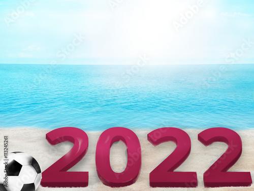 Fotografia  summer beach ocean blue sky 3d illustration