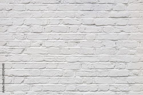 Foto op Plexiglas Wand White brick wall texture