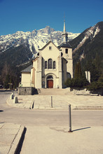 St. Michel Church In Chamonix,...