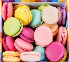 Macro Multicolored French Macaroon