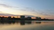 Time lapse of the transition from dusk to night looking over Vilga-river, Astrakhan, Russia